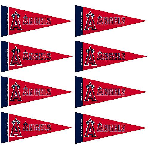 Mini Los Angeles Angels Pennant Flags 8ct Image #1