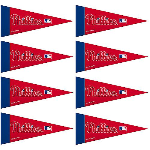 Mini Philadelphia Phillies Pennant Flags 8ct Image #1