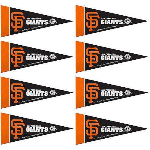 Mini San Francisco Giants Pennant Flags 8ct Image #1