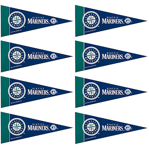 Mini Seattle Mariners Pennant Flags 8ct Image #1