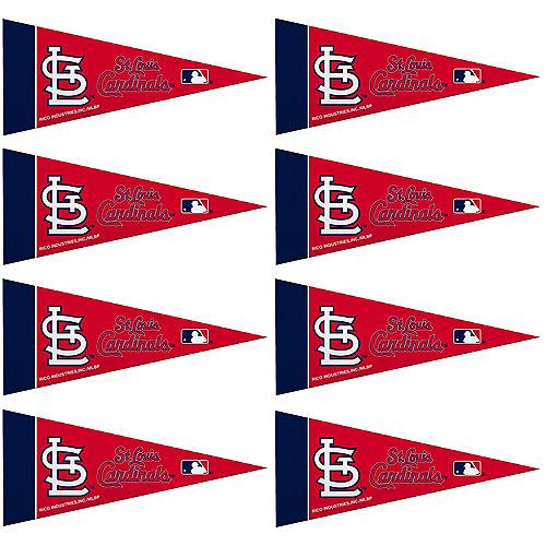 Mini St. Louis Cardinals Pennant Flags 8ct Image #1