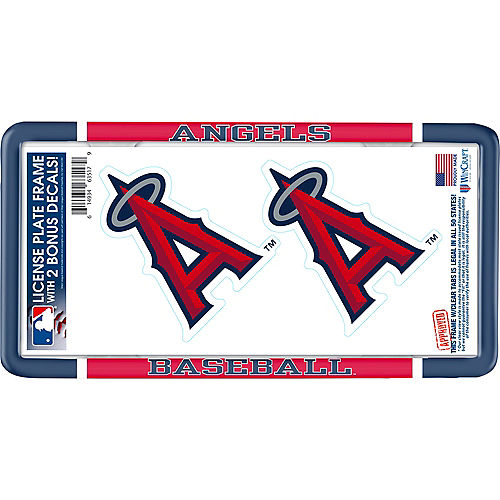 Los Angeles Angels License Plate Frame with Decals 3pc Image #1