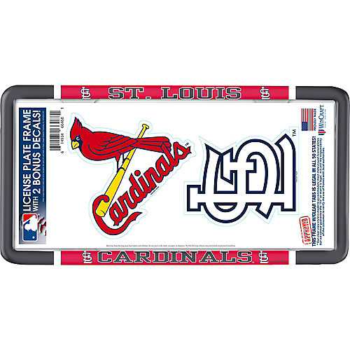 St. Louis Cardinals License Plate Frame with Decals 3pc Image #1