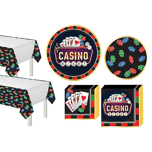 Roll the Dice Casino Tableware Kit For 16 Guests Image #1