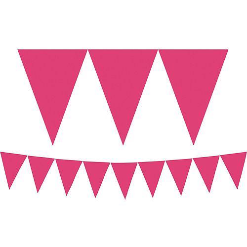 Silver Dream Letter Balloons & Pink Pennant Banner Kit Image #2
