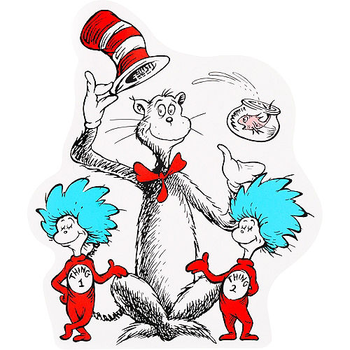 Cat in the Hat Cutouts 24ct - Dr. Seuss Image #1