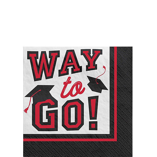 Ultimate Red Congrats Grad Graduation Party Kit for 100 Guests Image #5