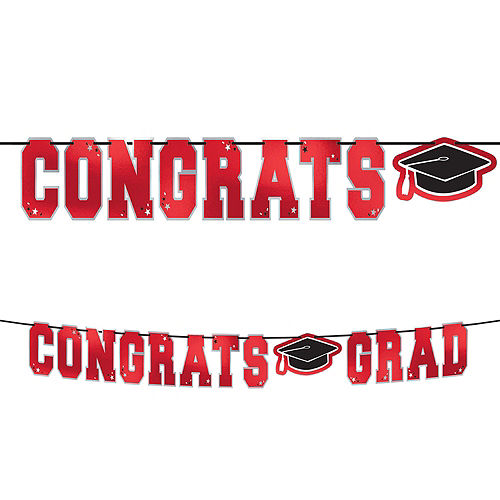 Ultimate Red Congrats Grad Graduation Party Kit for 100 Guests Image #8