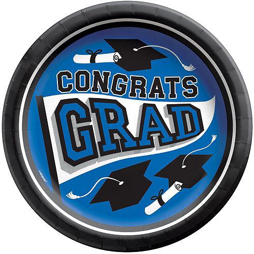 Ultimate Blue Congrats Grad Graduation Party Kit for 100 Guests Image #2