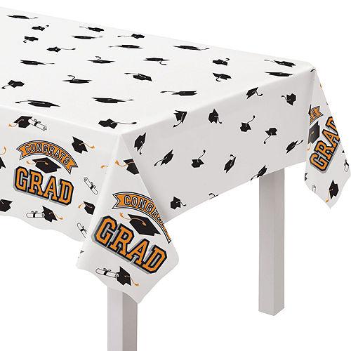 Ultimate Orange Congrats Grad Graduation Party Kit for 100 Guests Image #6