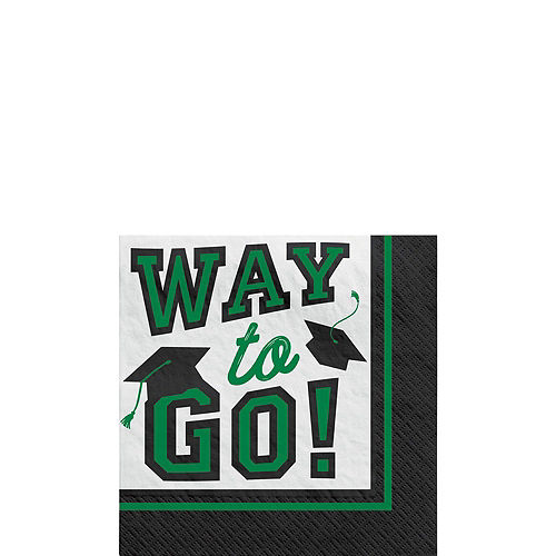 Ultimate Green Congrats Grad Graduation Party Kit for 100 Guests Image #4