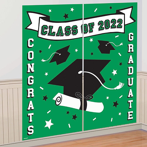 Ultimate Green Congrats Grad Graduation Party Kit for 100 Guests Image #8