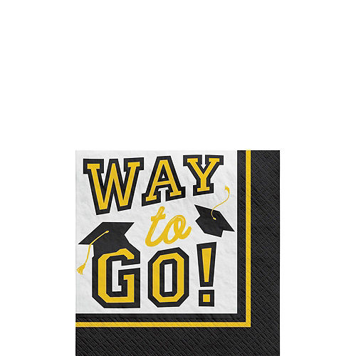 Ultimate Yellow Congrats Grad Graduation Party Kit for 100 Guests Image #4