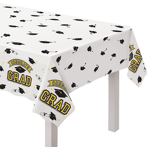 Ultimate Yellow Congrats Grad Graduation Party Kit for 100 Guests Image #5