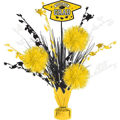 Ultimate Yellow Congrats Grad Graduation Party Kit for 100 Guests Image #6