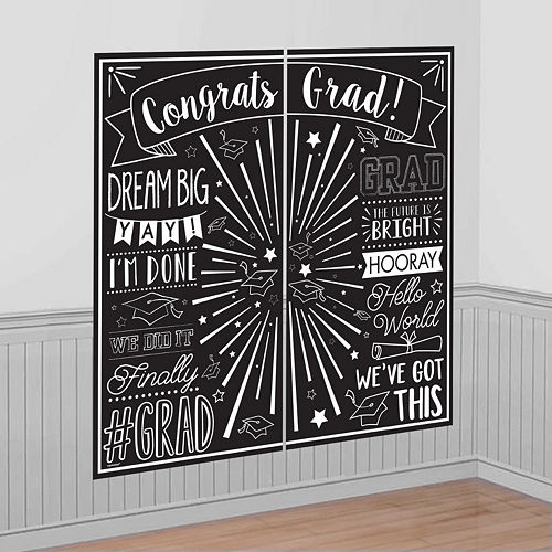 Ultimate Yellow Congrats Grad Graduation Party Kit for 100 Guests Image #9