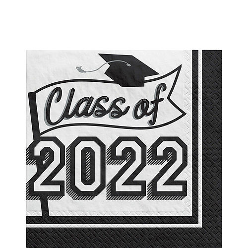 Ultimate White Congrats Grad Graduation Party Kit for 100 Guests Image #4