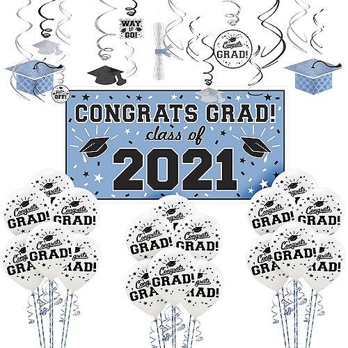 Powder Blue Congrats Grad Graduation Decorating Kit Image #1
