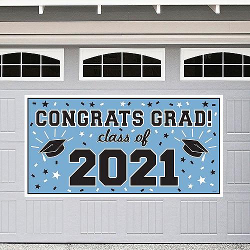 Powder Blue Congrats Grad Graduation Decorating Kit Image #2