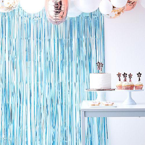 Ginger Ray Blue & White Fringe Backdrop Image #1