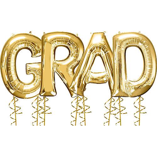 Giant Gold Grad Letter Balloon Kit Image #1