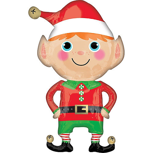 Happy Christmas Elf Balloon, 22in Image #1