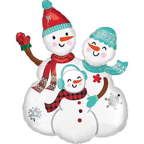 Christmas Snow Family Balloon, 23in Image #1
