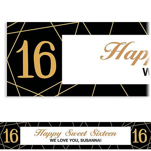 Custom Elegant Sweet 16 Banner Image #1