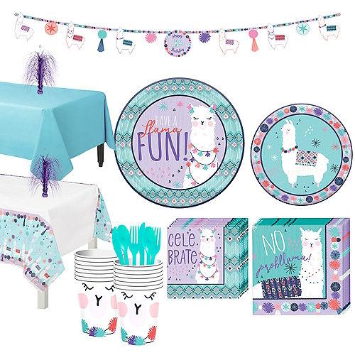 Llama Fun Tableware Kit for 16 Guests Image #1
