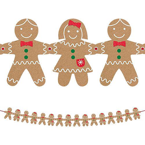 Felt Gingerbread Garland Image #1