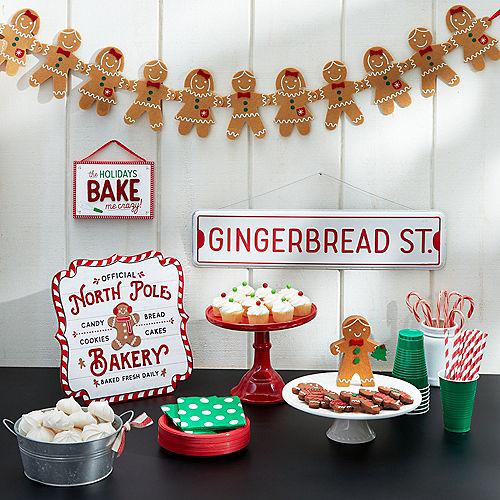 Felt Gingerbread Garland Image #2