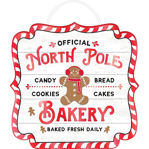 North Pole Bakery Easel Sign Image #1
