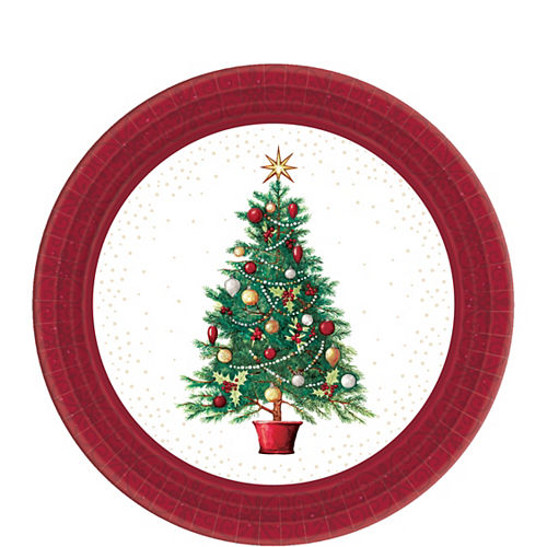 Big Party Pack Oh Christmas Tree Dessert Plates 60ct Image #1
