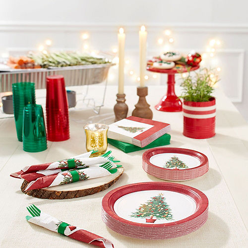 Big Party Pack Oh Christmas Tree Dessert Plates 60ct Image #2