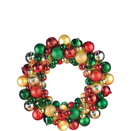 Christmas Ornament Wreath, 19in Image #1