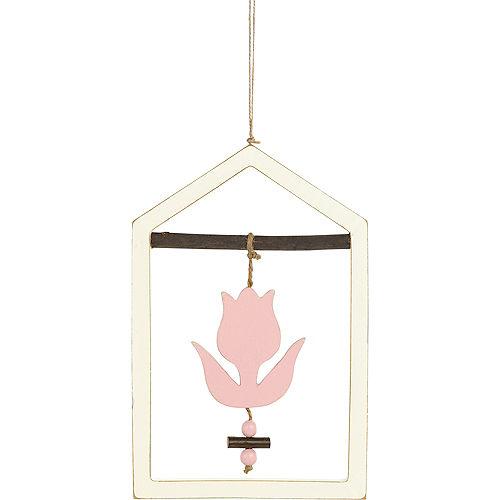 Pink Flower Frame Sign Image #1