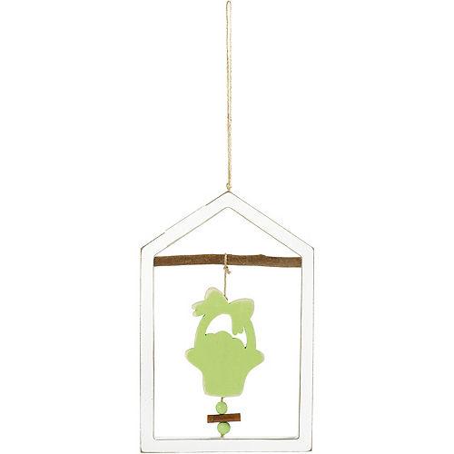 Green Flower Pot Frame Sign Image #1