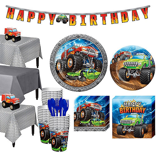 Monster Truck Tableware Kit for 24 Guests Image #1