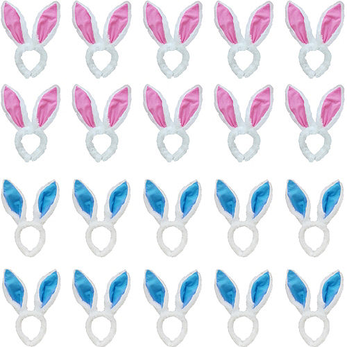 His & Hers Plush Easter Bunny Ears Kit for 24 Guests Image #1