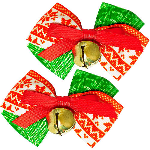 Jingle Bell Hair Bows 2ct Image #1