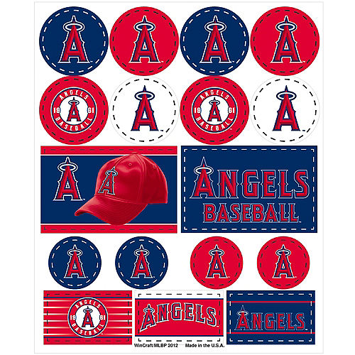 Los Angeles Angels Stickers 1 Sheet Image #1