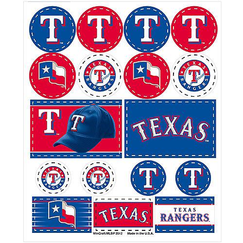 Texas Rangers Stickers 1 Sheet Image #1