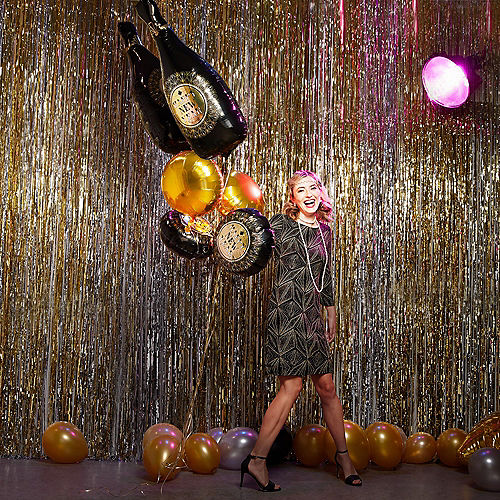 Roaring 20s New Year's Eve Balloon Bouquet 5pc Image #2