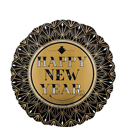 Roaring 20s New Year's Eve Balloon, 17in Image #1