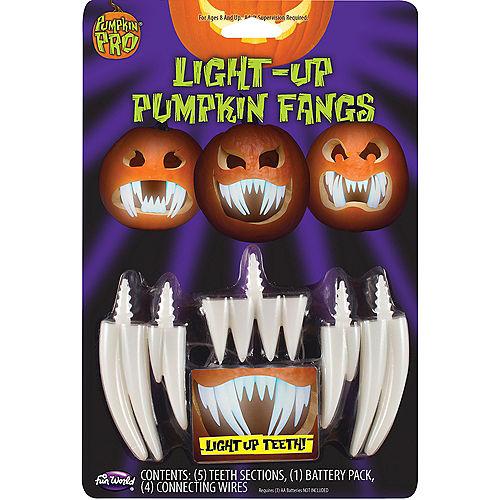 Light-Up Pumpkin Fang Teeth Image #1