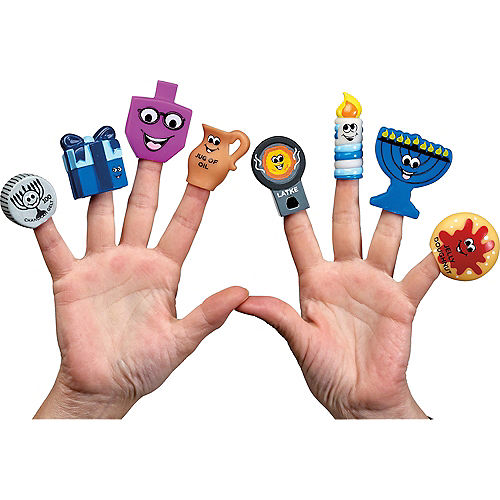 Hanukkah Finger Puppets 8ct Image #1
