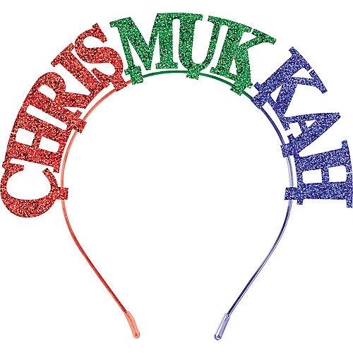 Glitter Chrismukkah Headband Image #1