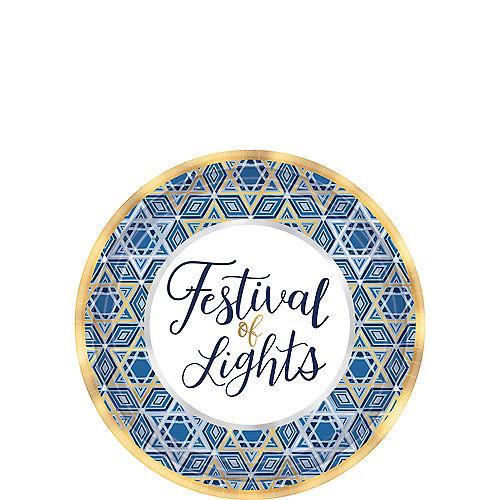 Festival of Lights Hanukkah Dessert Plates 18ct Image #1