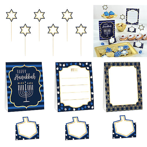 Hanukkah Buffet Decorating Kit 12pc Image #1