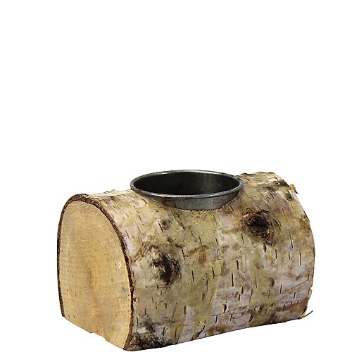 Birch Bark Tealight Candle Holders 6ct Image #1
